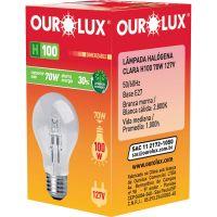 Lampada Ourolux Halogena Clara H100 70W 127V - Cód. 7898324239779C10