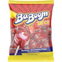 Pirulito Baboom Mega 480G Morango - Cód. 7898423411182C2