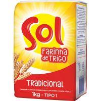 Farinha Trigo Sol 1Kg Papel - Cód. 7891080000119C10