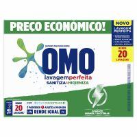 Detergente em Po Sanitizante Omo Lavagem Perfeita Caixa 1,6Kg - Cód. 7891150072152C9