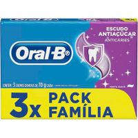 Creme Dental Oral-B 70G 3Un Anti Acucar - Cód. 7500435150286