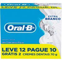 Creme Dental Oral-B 70G Lv12 Pg10 Extra Branco - Cód. 7500435150255