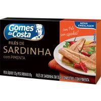 Sardinha Gomes Da Costa 125G File Pimenta - Cód. 7891167022027C24