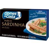 Sardinha Gomes Da Costa 125G File Oleo - Cód. 7891167022010C24