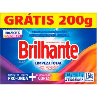 Detergente em Po Brilhante Sn 16Kg Pg14Kg Cx Limpador Total - Cód. 7891150069190C9