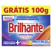 Detergente em Po Brilhante Sn 800G Pg 700G Cx Limpador Total - Cód. 7891150069183C20