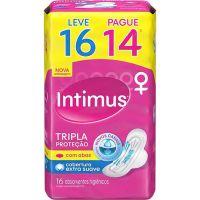 Absorvente Intimus Gel Normal C/Abas L16 P14 Seca - Cód. 7896007545100C30