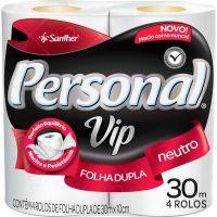 Papel Higienico Personal Vip 4X30M Neutro - Cód. 7896110000176C16