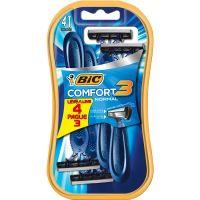 Aparelho de Barbear Bic Comfort 3 Pele Normal Leve 4 Pague 3 Unidades - Cód. 70330734395C72