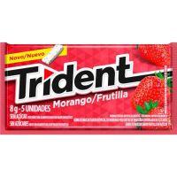 Chiclete Trident Morango 8G - Cód. 7895800201503C672