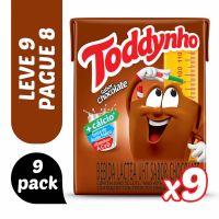 Pack Bebida Láctea Uht Chocolate Toddynho Caixa 1,8L Leve 9 Pague 8 Unidades - Cód. 7894321235028C27