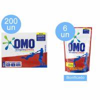 Compre 200 un Detergente Po Omo Lavagem Perfeita 800g e Ganhe 6 un de Lava Roupas Omo Lavagem Perfeita 900 ml - Cód. C9260