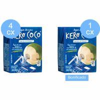 Compre 4 caixas (com 27 unidades cada) de Água De Coco Esterilizada Kero Coco Caixa 200Mle ganhe 1 caixa do mesmo item - Cód. C9858