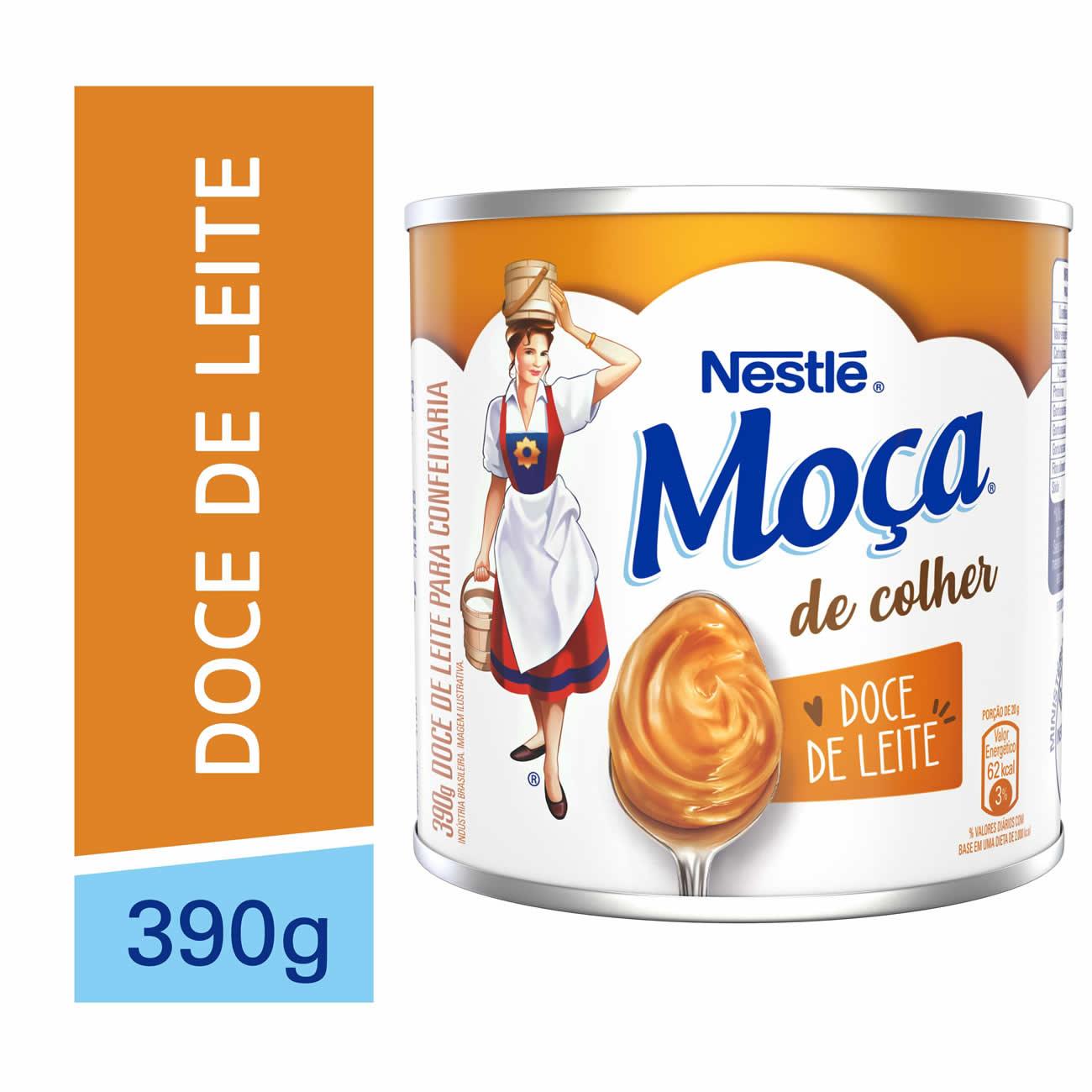 Moça Colher 390G Doce De Leite