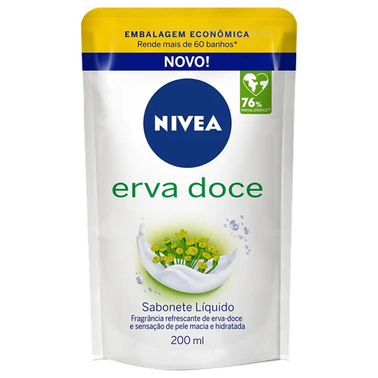 Sabonete Liquido Nivea Erva Doce Refil 200ml