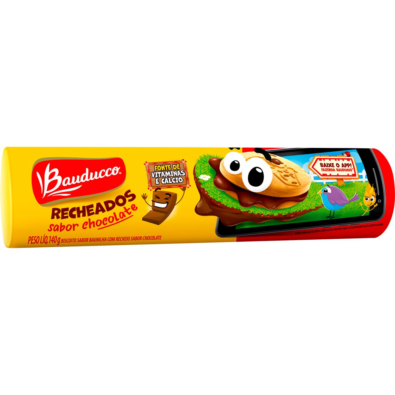 Biscoito Recheado Bauducco Gulosos Chocolate 140G