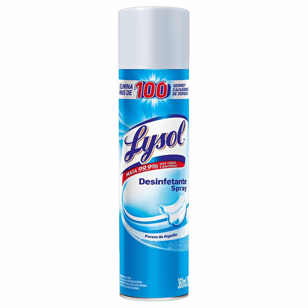 Desinfetante Aero Lysol Pureza do Algodao 360ml