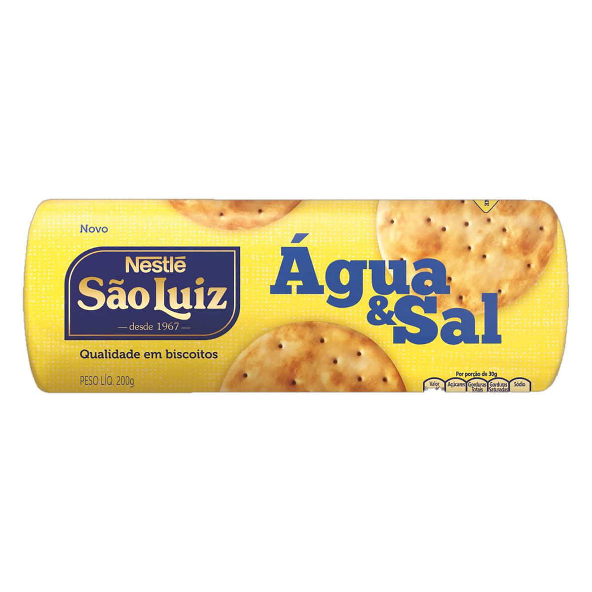 Biscoito Nestle São Luiz Agua e Sal 200g