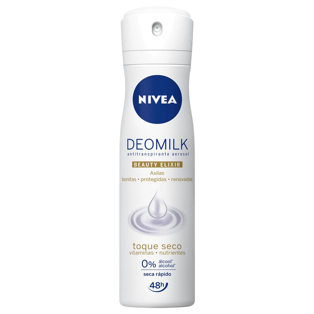 Desodorante Aerosol Nivea Deomilk Dry 150ml