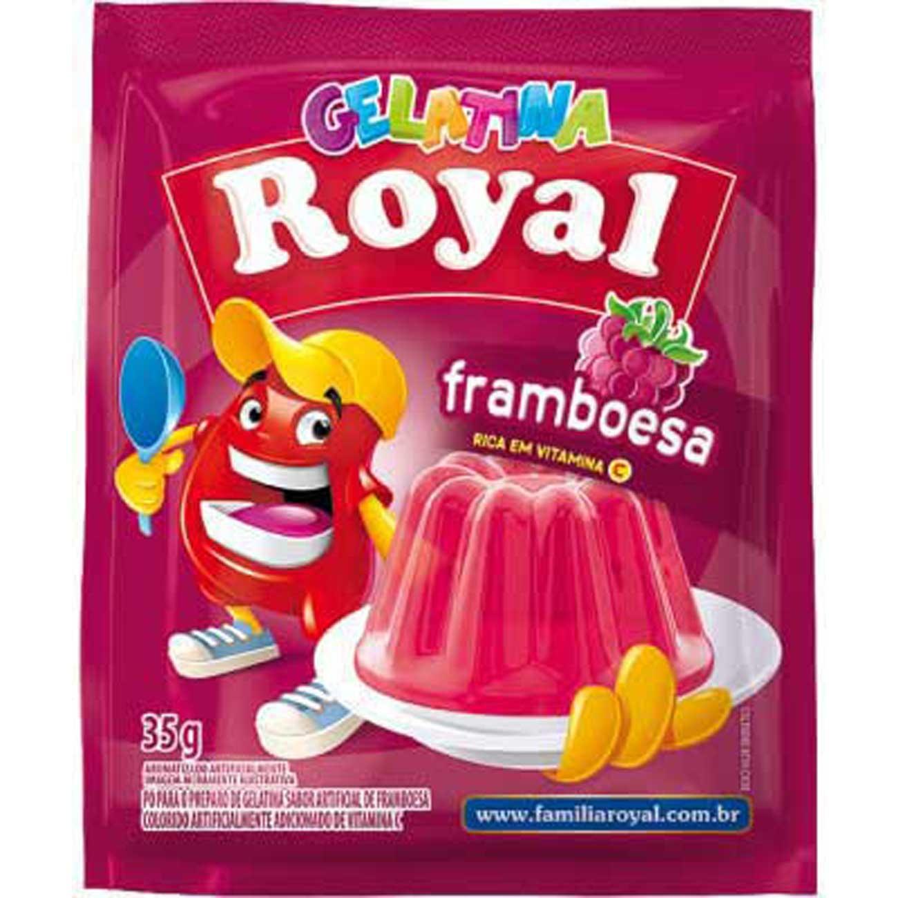 Gelatina Royal 25G Framboesa