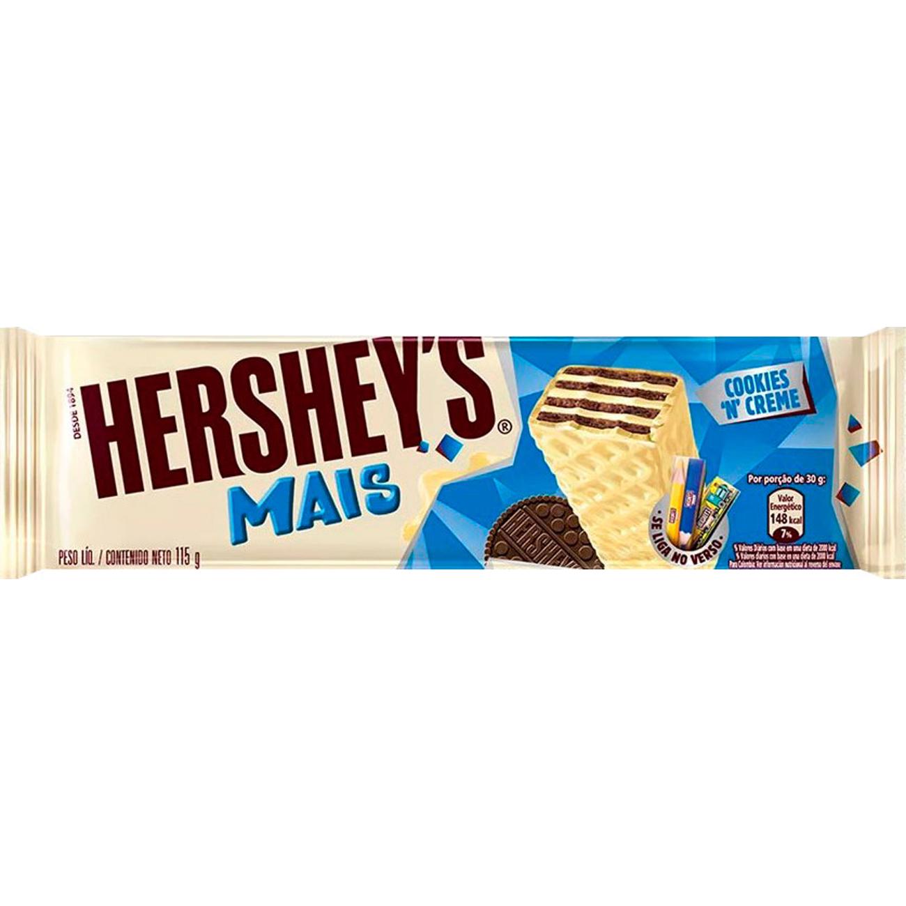 Chocolate Hersheys Mais 115G Cookies N Cream