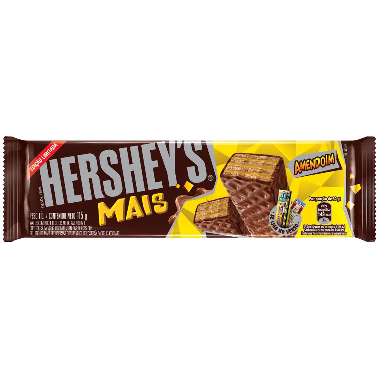 Chocolate Hersheys Mais 115G Amendoim