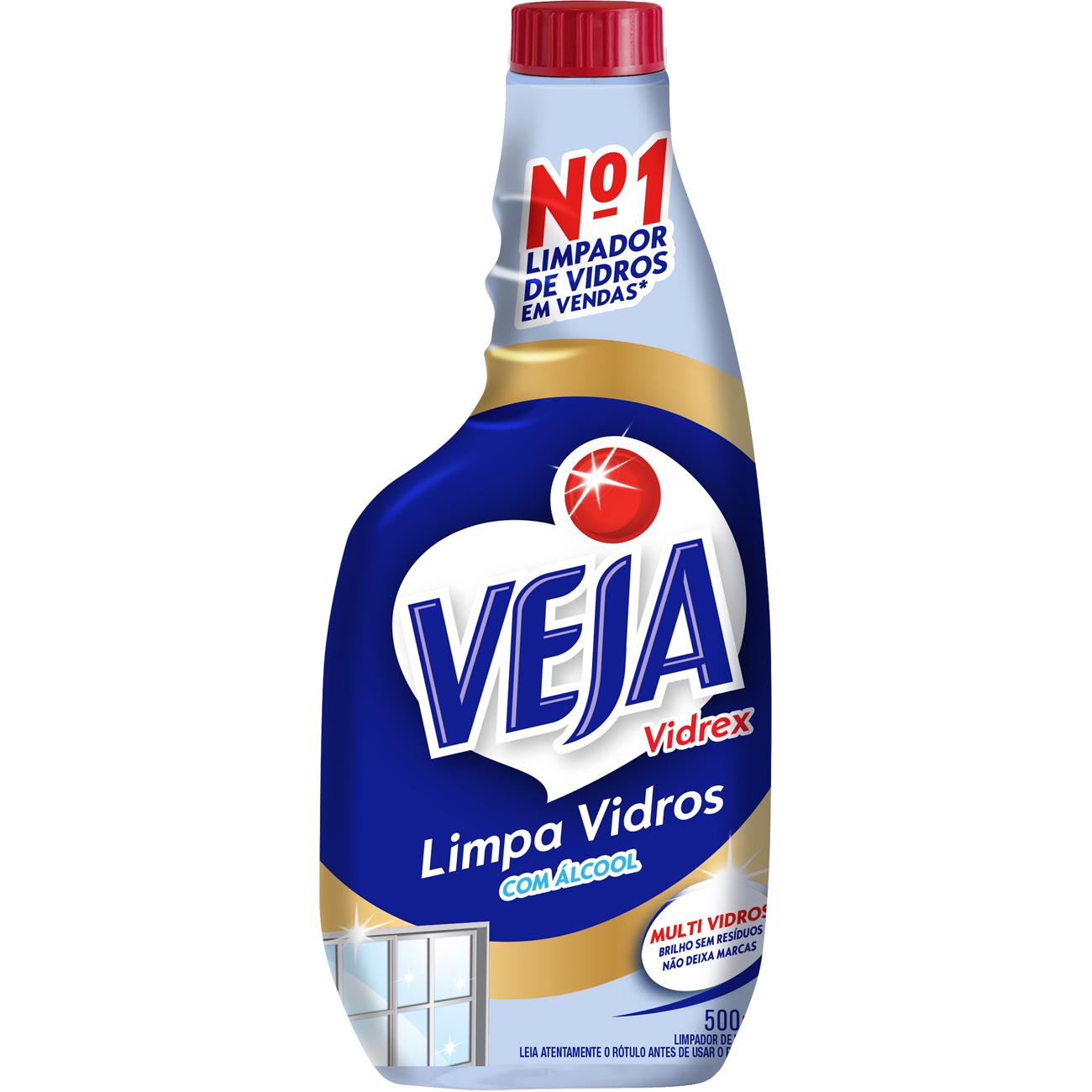 Limpa Vidro Veja Vidrex 500Ml Refil