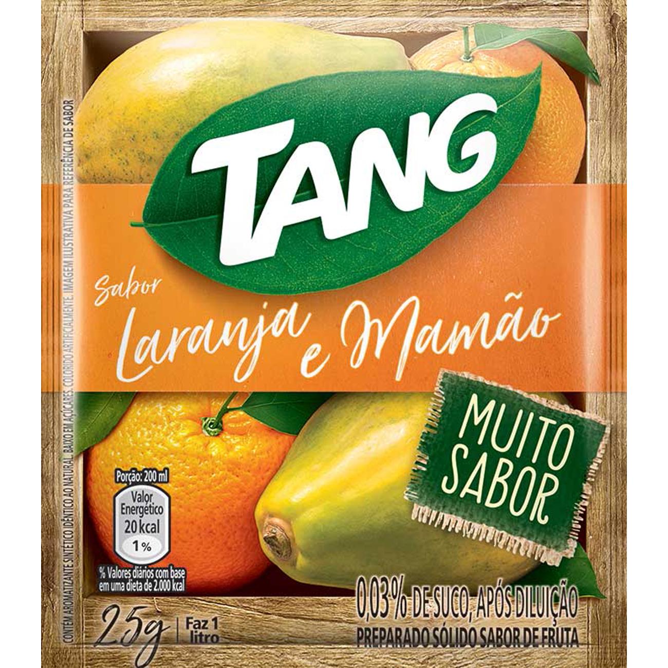 Bebida em Pó TANG Laranja Mamão 25g
