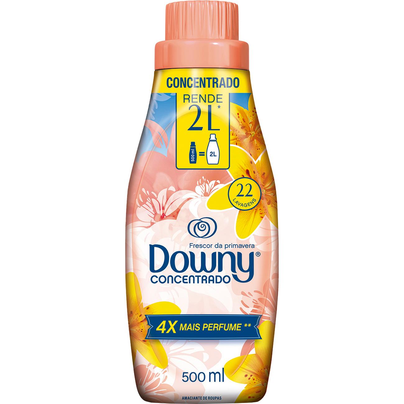 Amaciante para roupa Downy concentrado 500ml frescor primavera