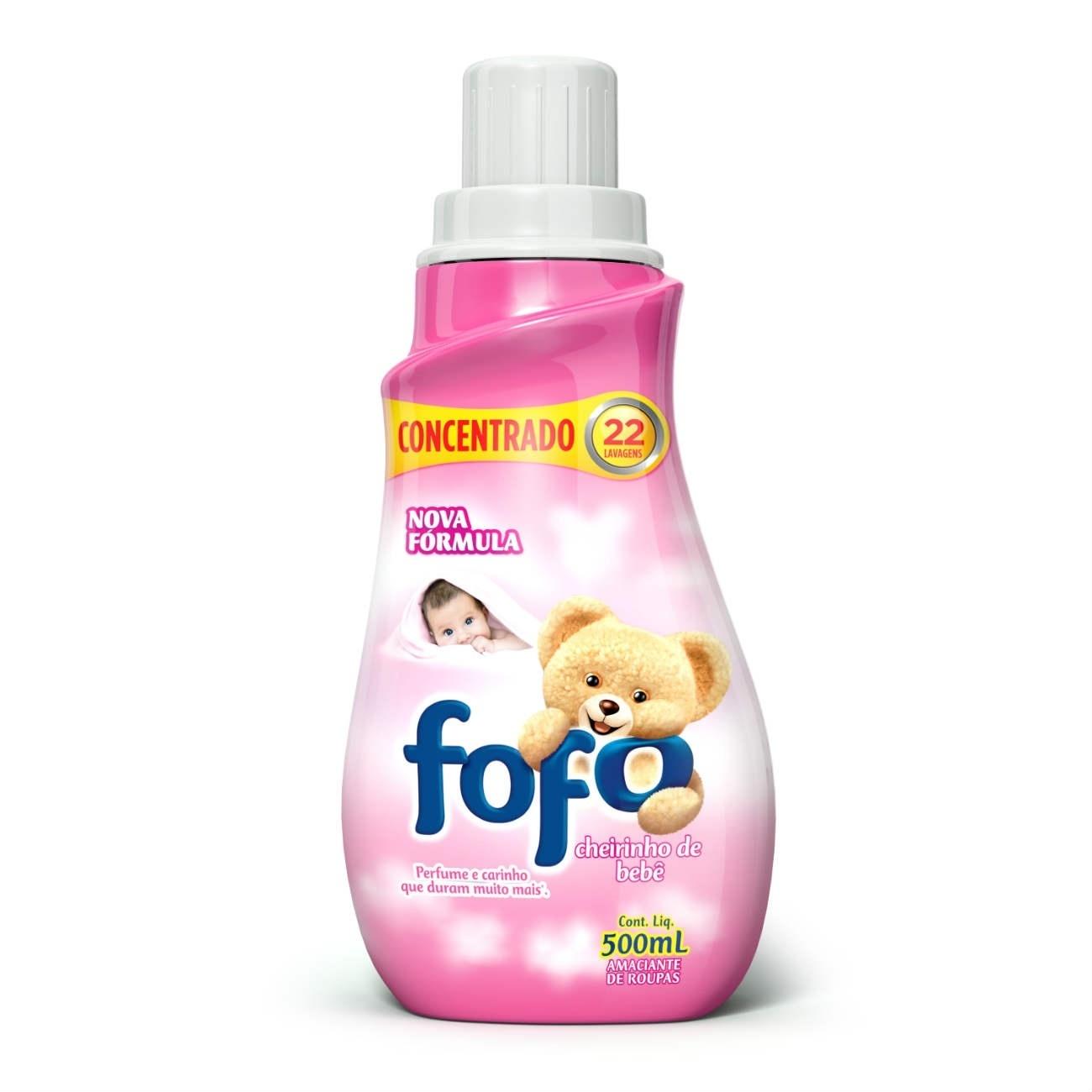 Amaciante Concentrado Fofo Cheirinho De Bebê 500Ml