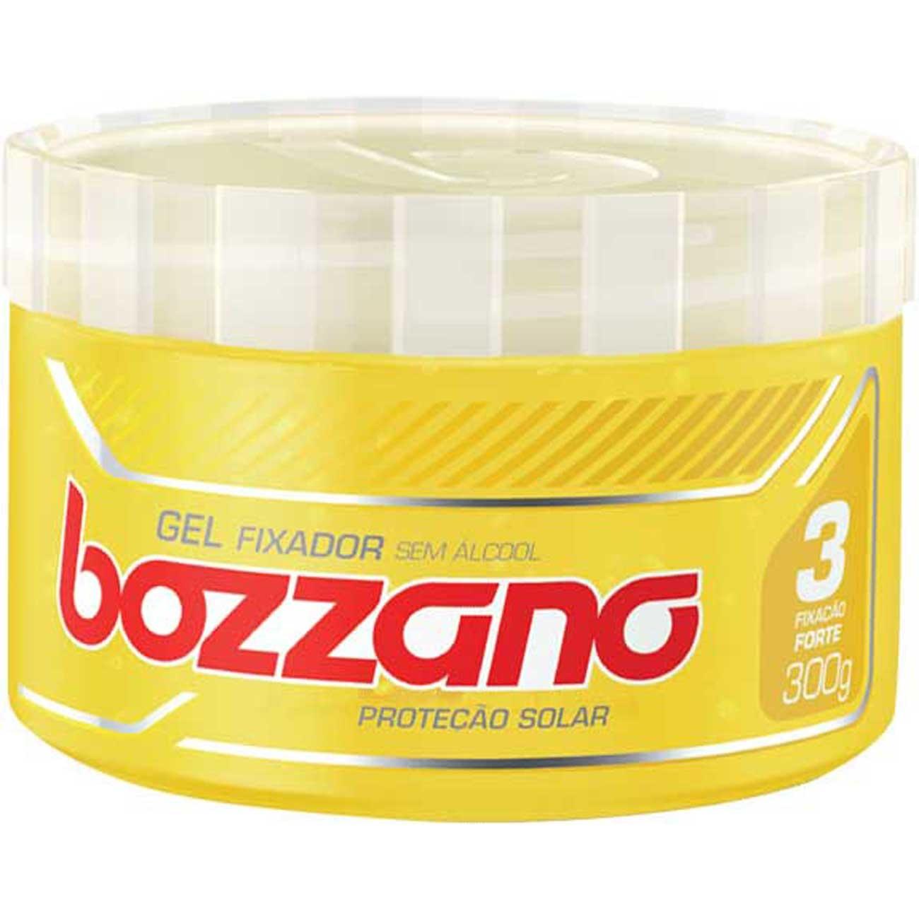 Gel Fixador Bozzano 300G Amarelo Proteção Solar