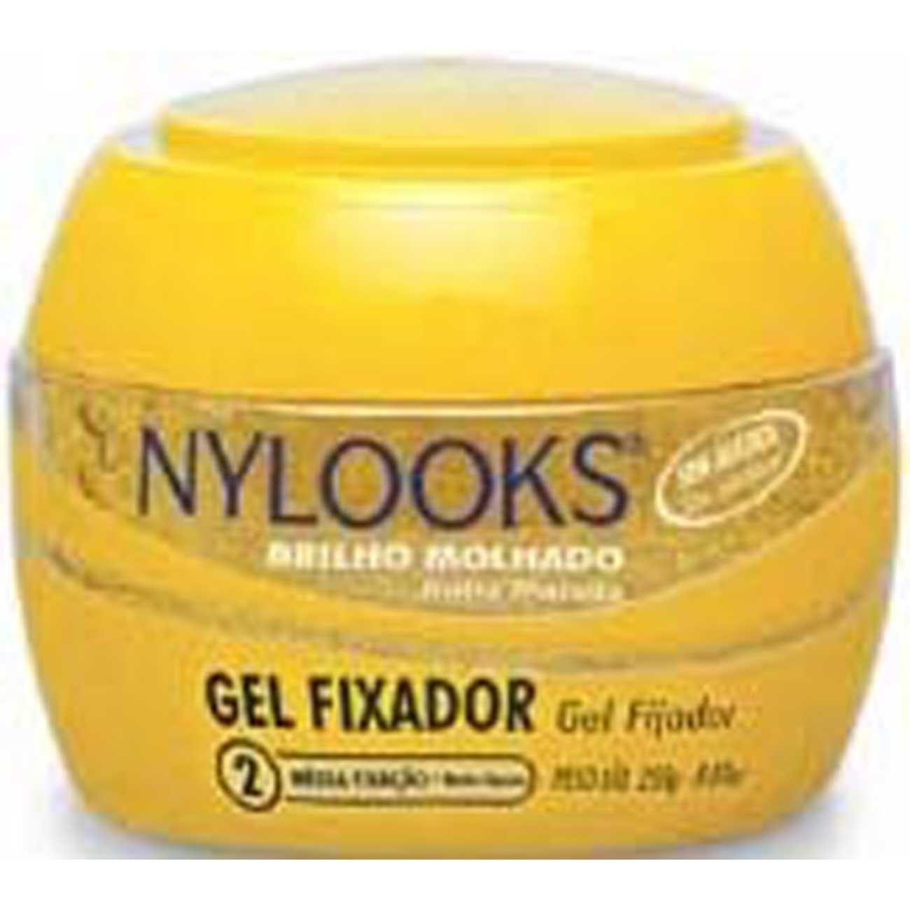Gel Fixador Nylooks 250G Media Amarelo 2