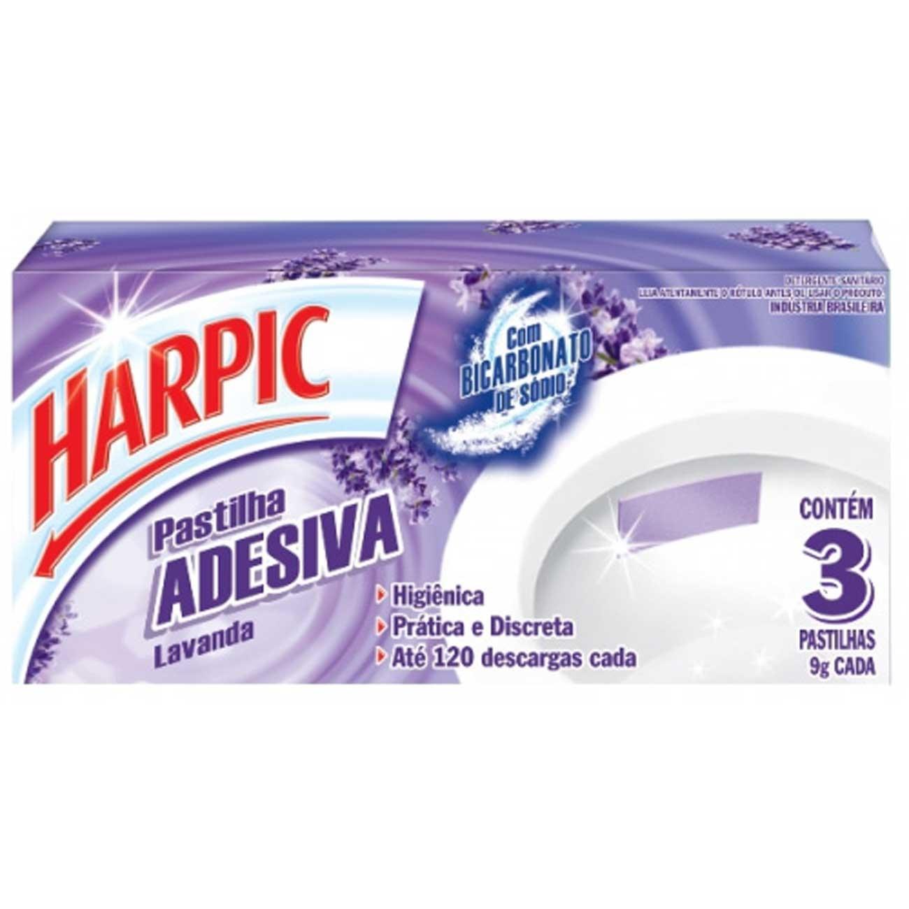 Desodorizador Harpic 3Un Past.Adesiva Lavanda