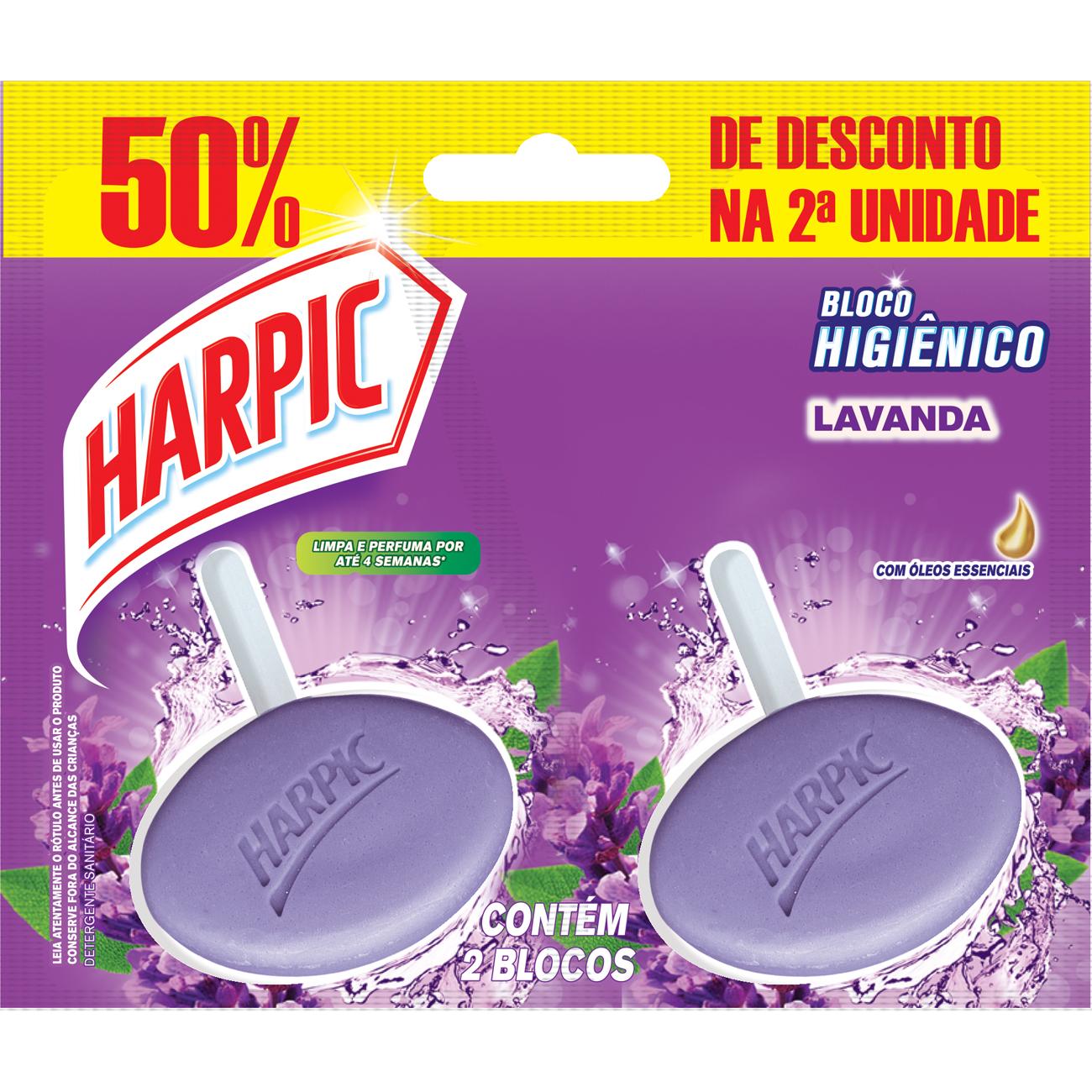 Bloco Sanitario Harpic Twin Pack 50%Off Lavanda