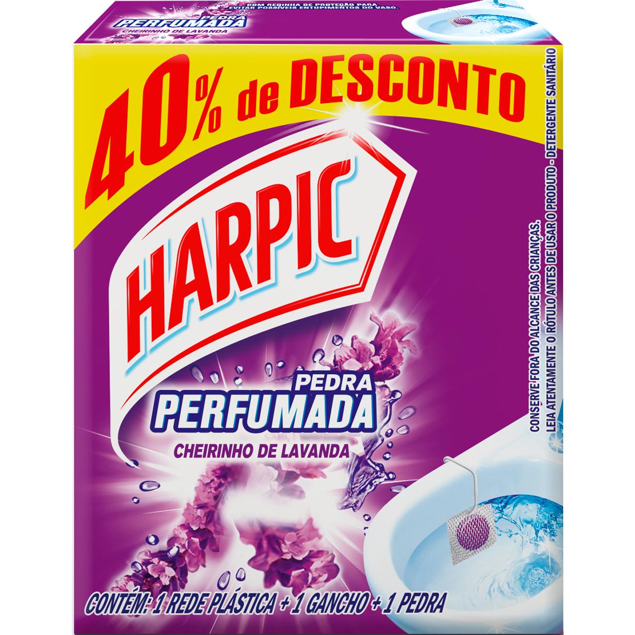 Pedra Sanitario Harpic Plus 20G 40%Desc Lavanda