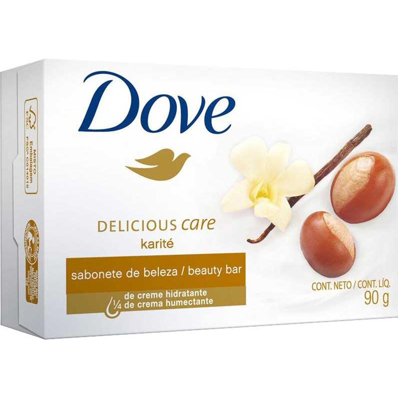 Sabonete em Barra Dove Delicious Care Karite 90G