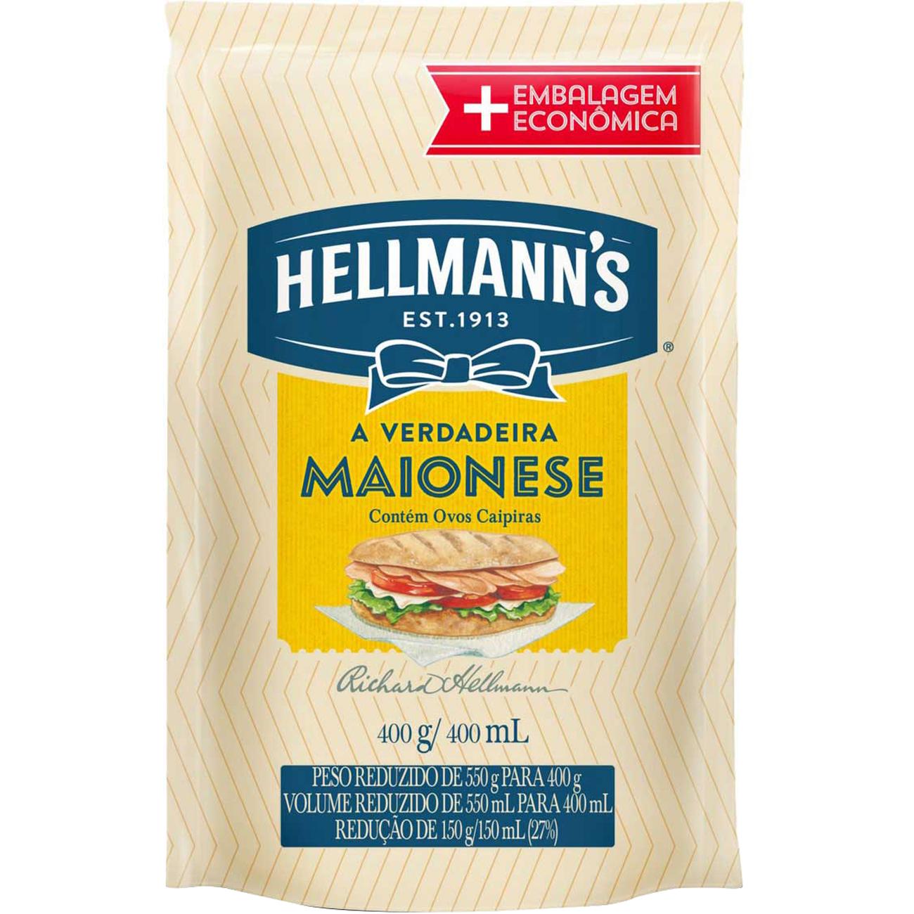 Maionese Hellmanns Sache 400G