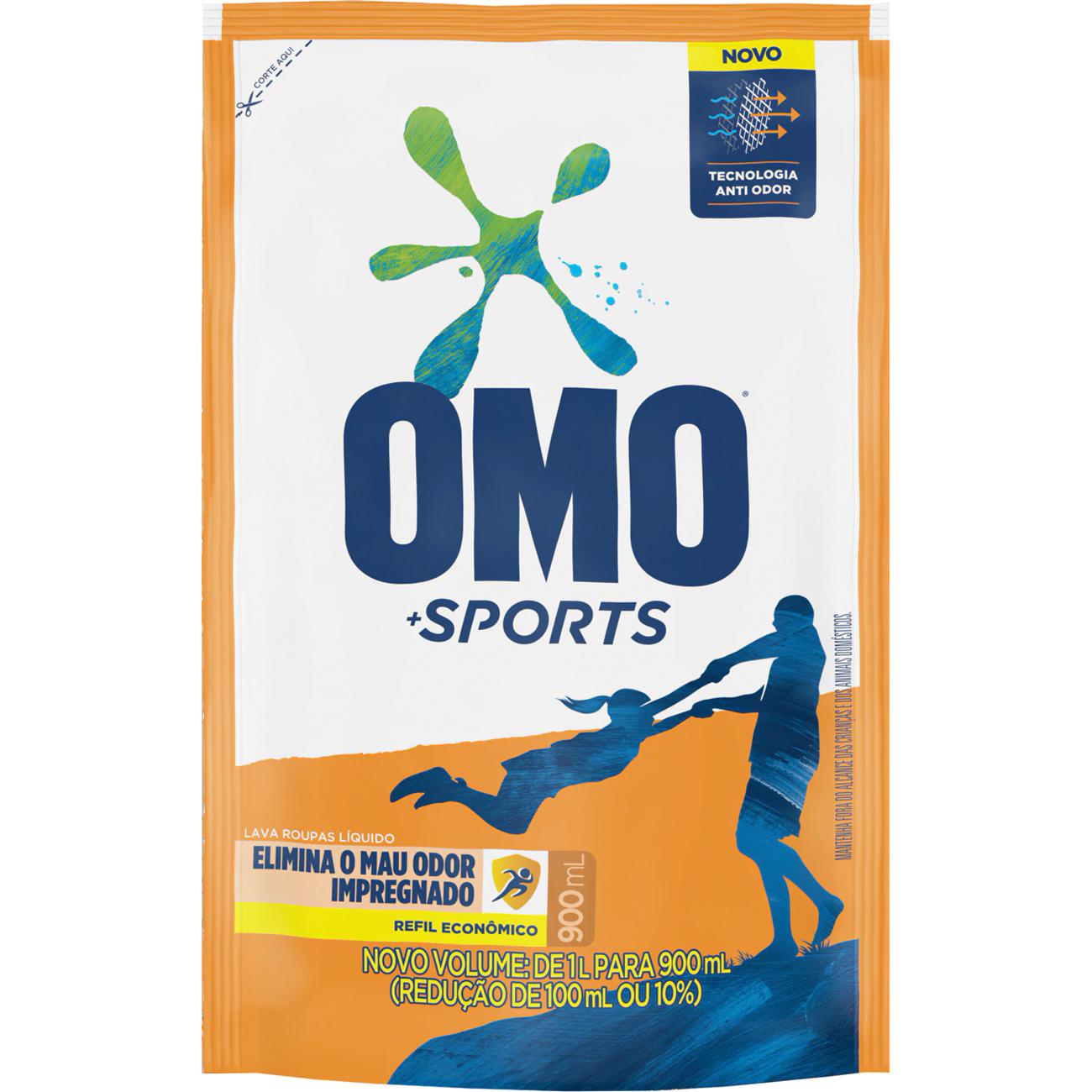 Lava Roupa Liquido Omo Sports 1L