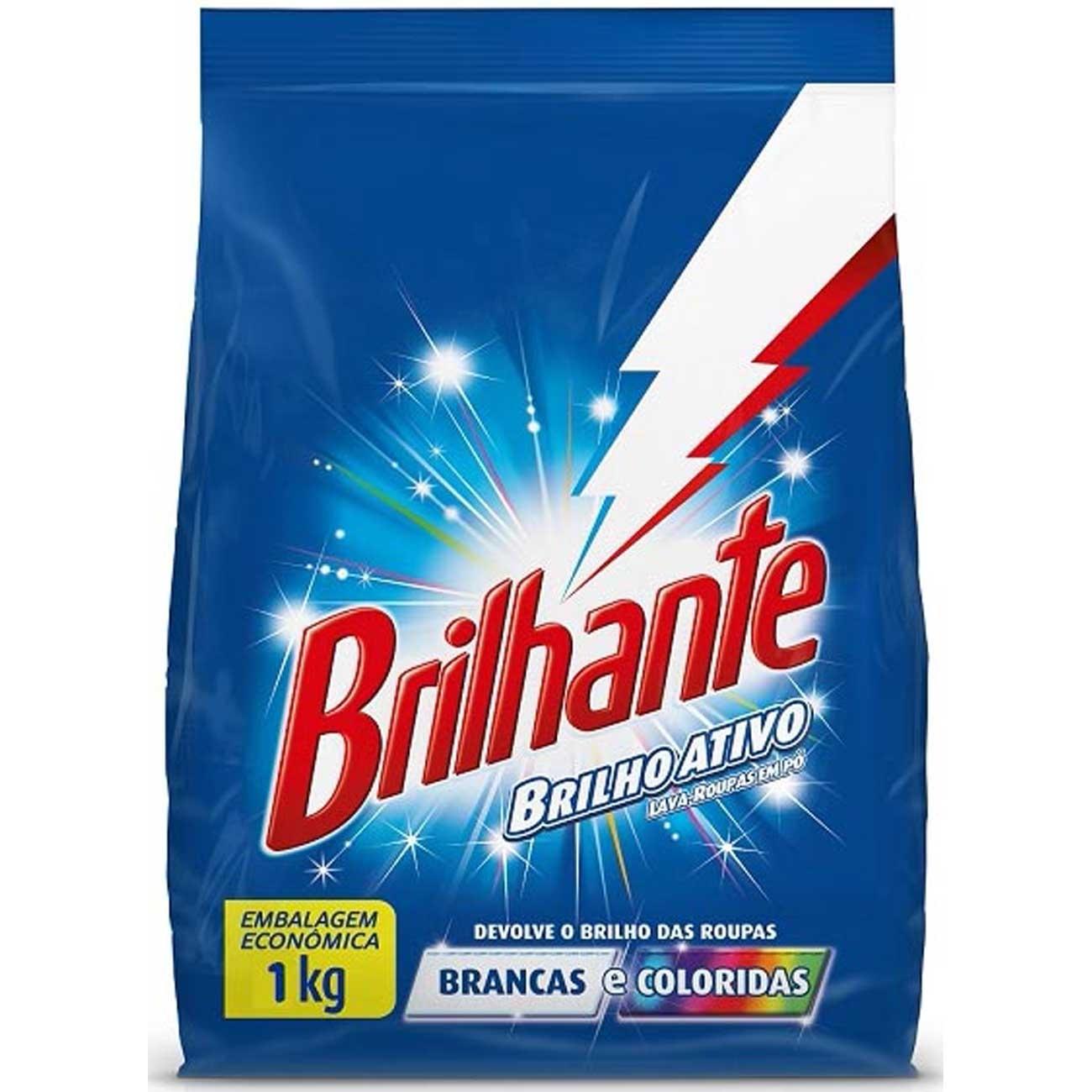 Detergente Em Pó Brilhante Multi Tecidos 1Kg