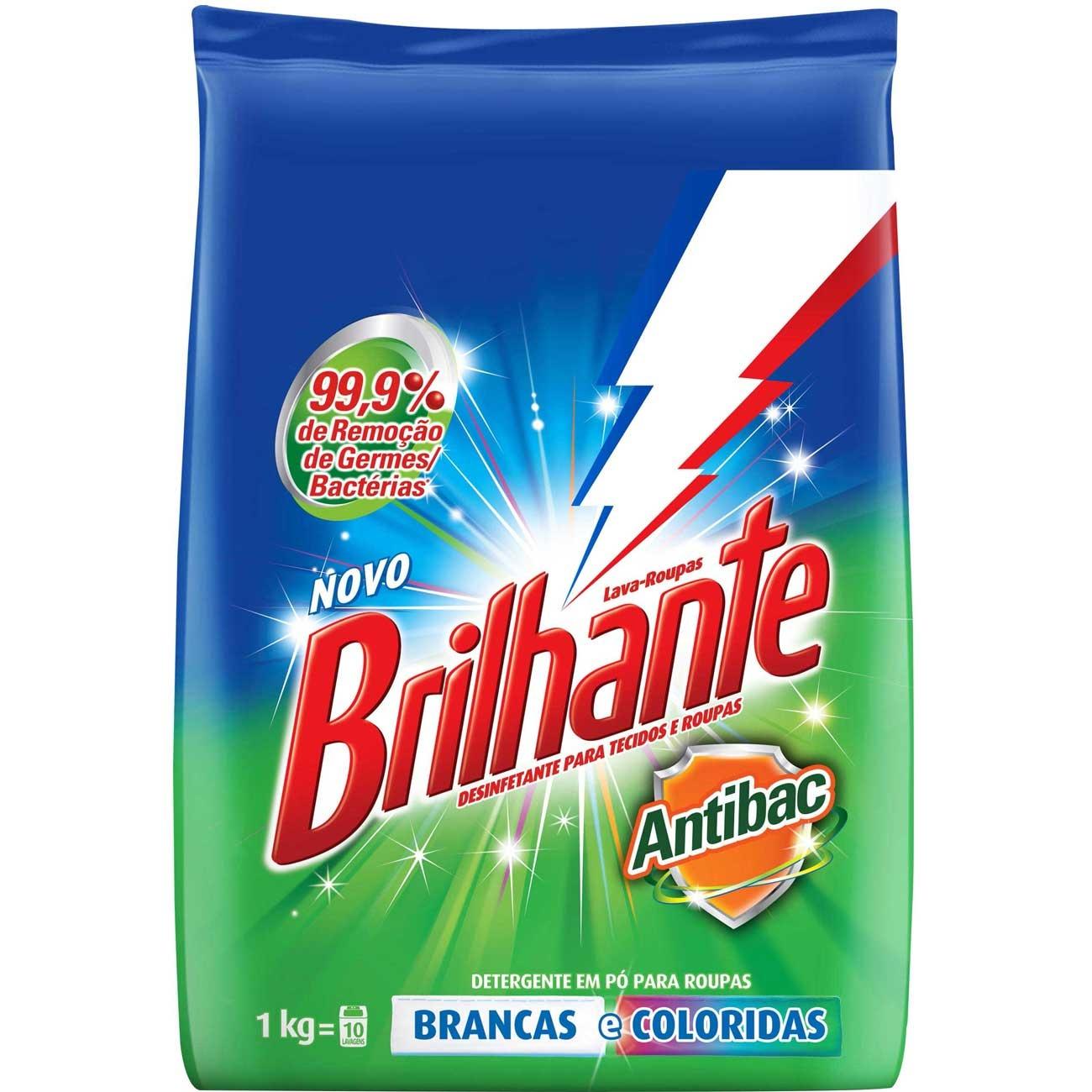 Detergente Em Pó Brilhante Antibac 1Kg