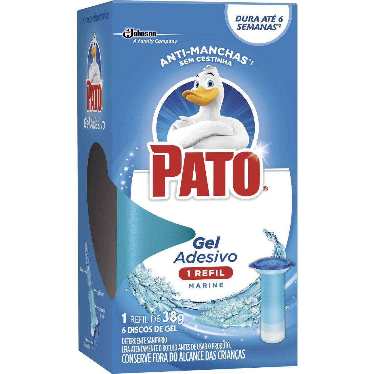 Desodorizador Pato Refil 6 Discos Adesivo Marine