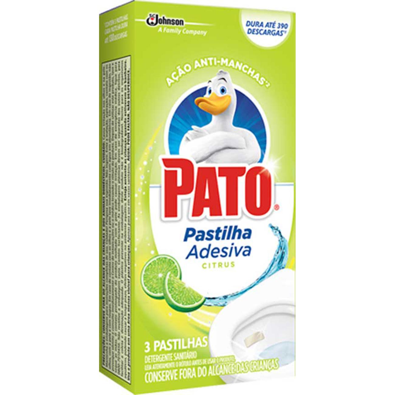 Desodorizador Pato 3Un Past.Adesiva Citrus