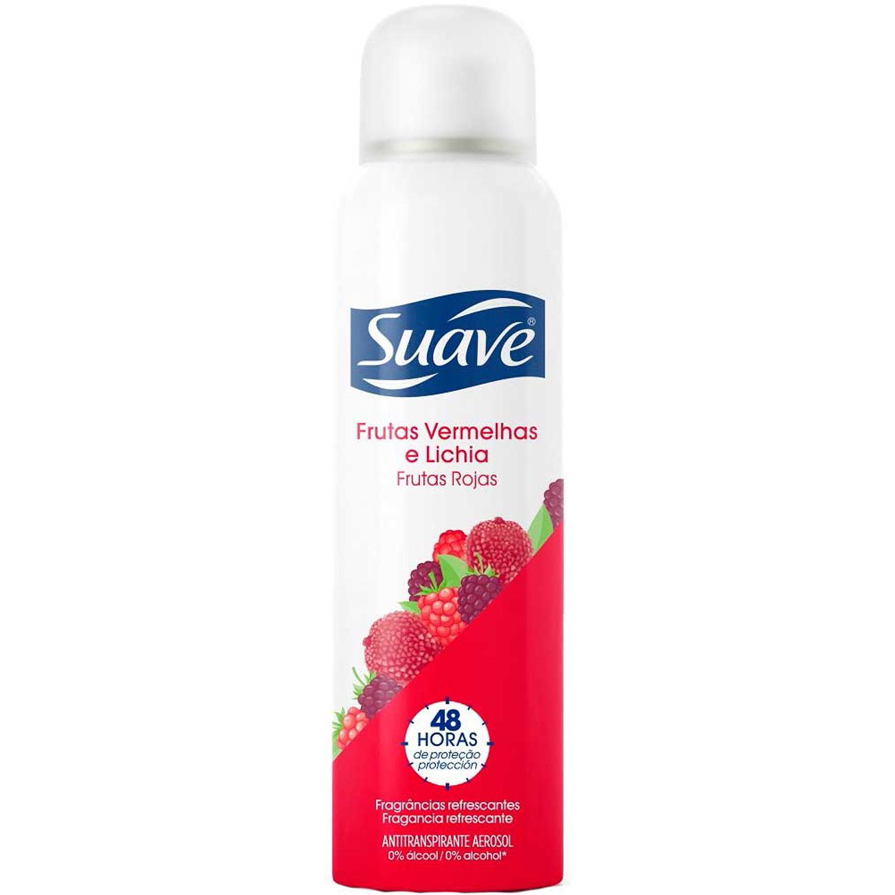 Desodorante Antitranpirante Suave Frutas Vermelhas E Lichia