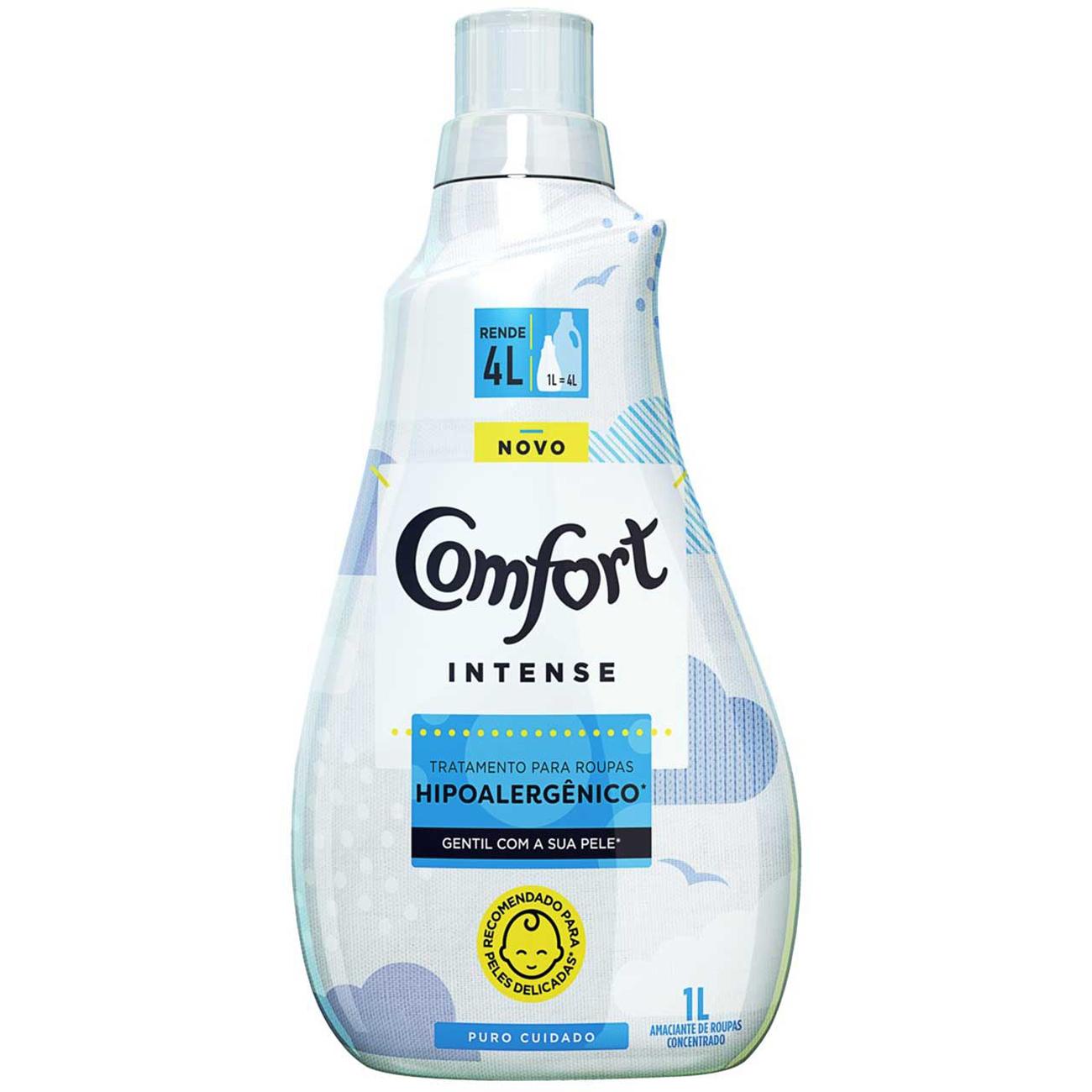 Amaciante Concentrado Comfort Puro Cuidado 1L