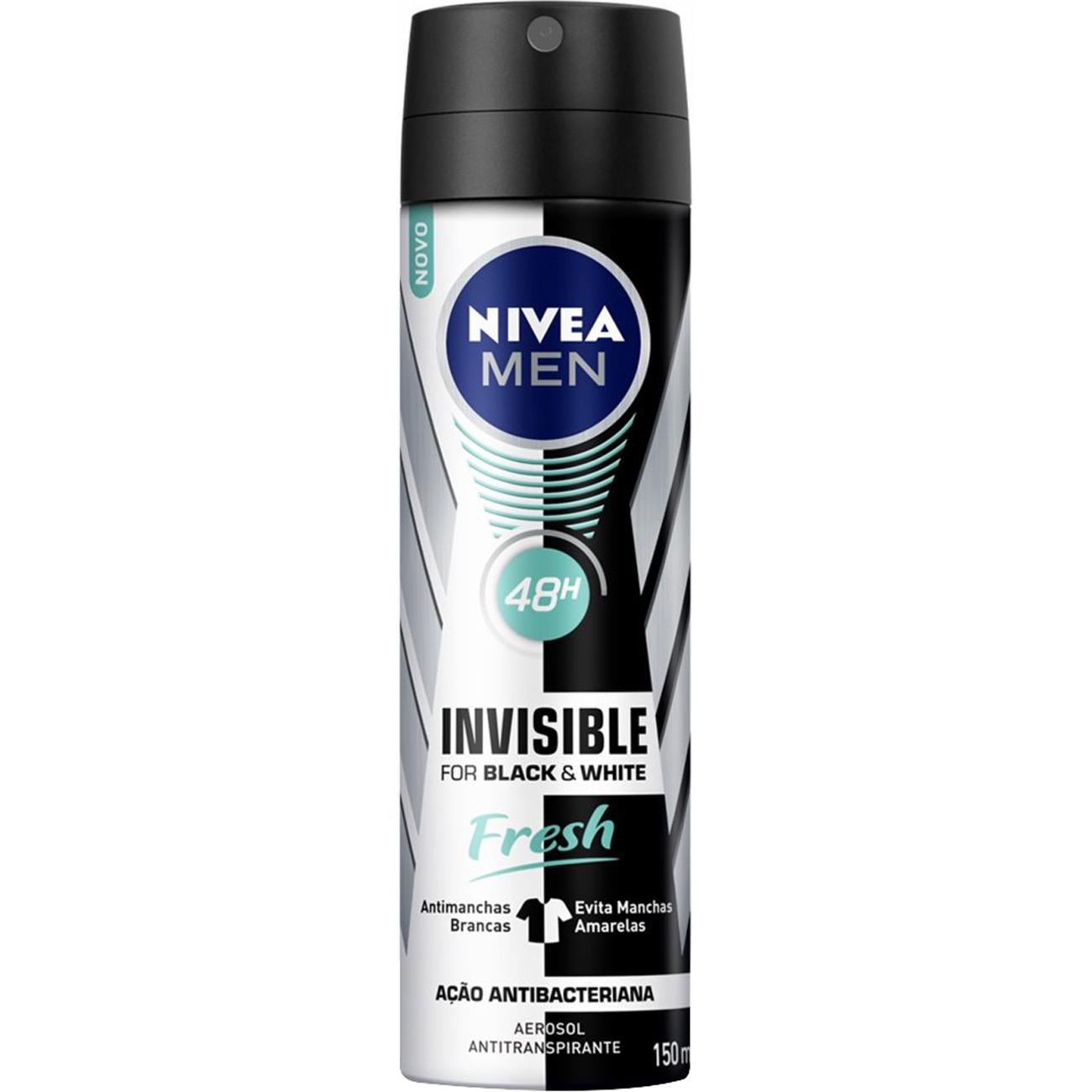 Desodorante Nivea Aero 150Ml Masculino Invisivel Fresh