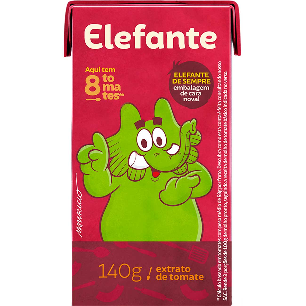 Extrato De Tomate Elefante 140g