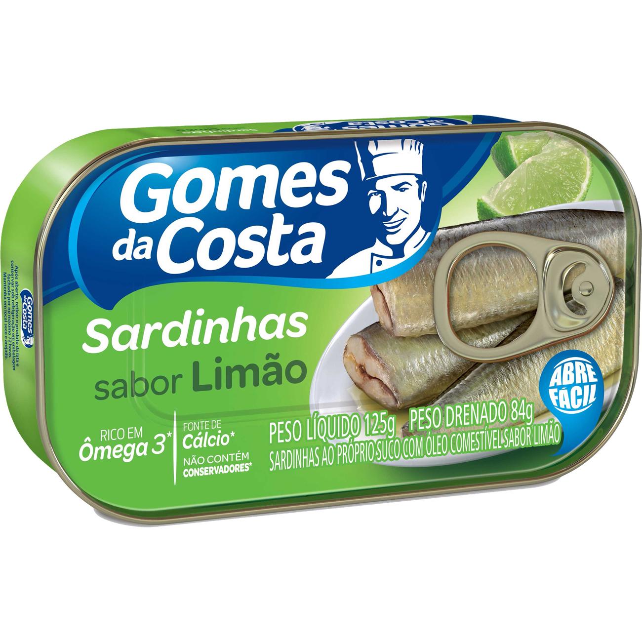 Sardinha Gomes Da Costa 125G Com Limao