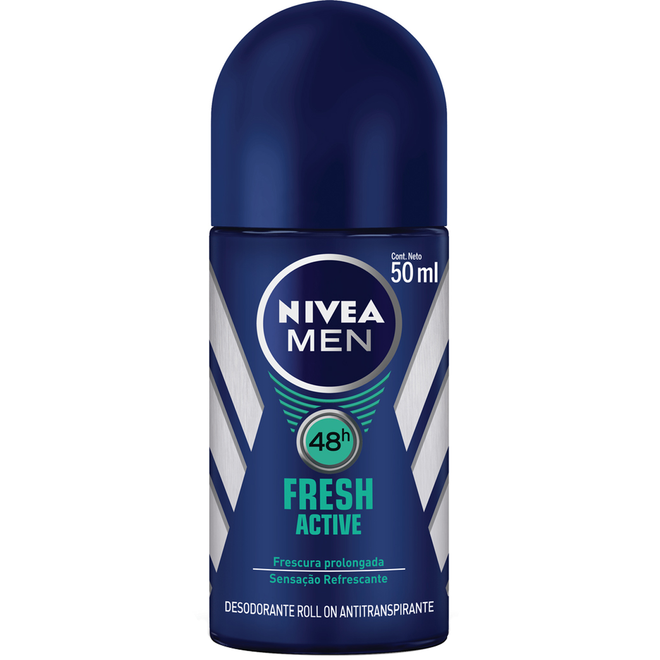Desodorante Roll-On Nivea Masculino Fresh Active 50Ml
