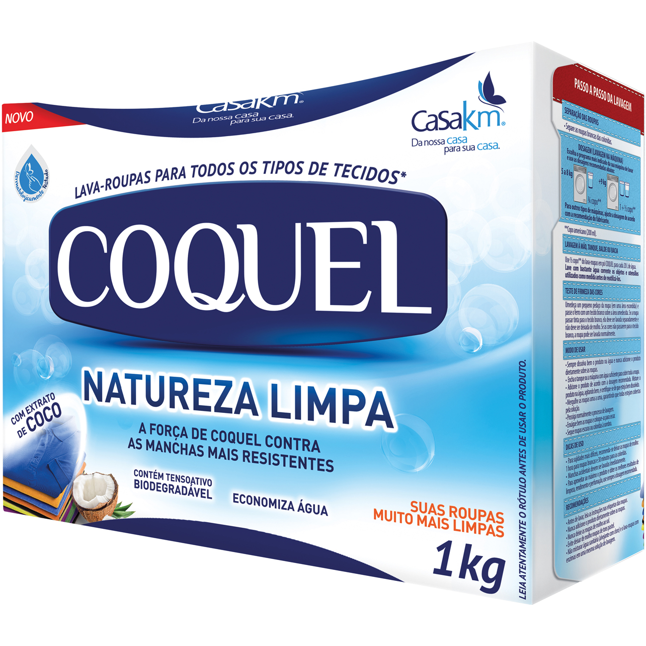 Detergente em Po Coquel Coco 1Kg