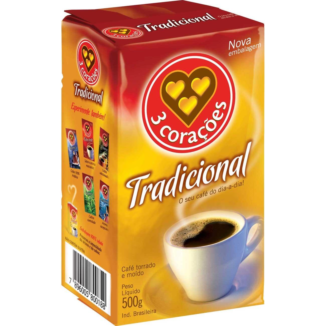 Cafe 3 Coracoes 500G Vacuo Tradicional